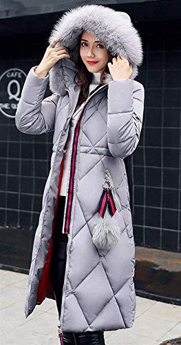 Moda Style Invernali Slim Con Piumini Sciolto Festa Invernale Donna Colore Accogliente Fit Sezioni Hot E Trench Ragazze Parka Piumino Outerwear Grau Lunghe Vento Cappuccio Addensare Puro Giacca 7tx8zqI