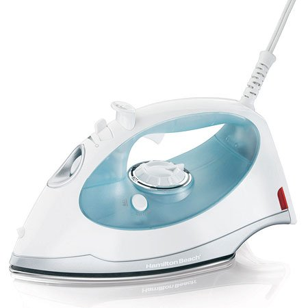 - Hamilton Beach 013219001379 14010 Mid Size Steam Elite Iron, White