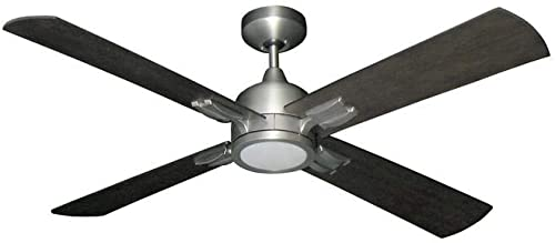 "TroposAir Captiva 52"" Satin Steel Contemporary Ceiling Fan"