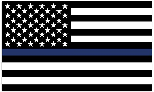Mind Your Magnets American Flag Car Magnet - Thin Blue Line