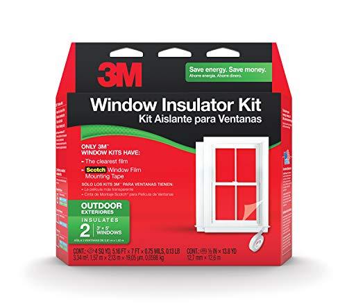 3M Kit Aislante para ventanas para uso en interiores, 5 ventanas Transparente 2 ventanas