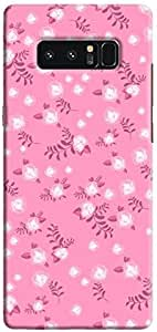 Cover It Up - Pink Flower Pink Paper Samsung Galaxy Note 8 Hard Case