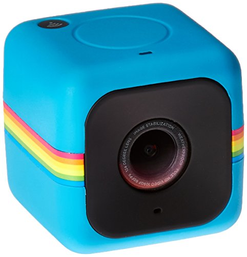 Polaroid Cube+ Live Streaming 1440p Mini Lifestyle Action Camera with Wi-Fi & Image Stabilization (Blue)