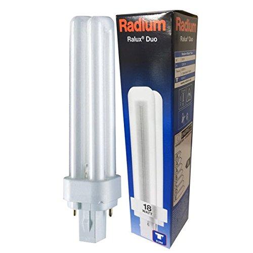 RADIUM Kompakt-Leuchtstofflampe Ralux Duo, Sockel G24d 18 W / 840 RA31316920