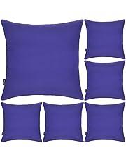 6 Pack Decoratieve 100% Katoen Kussenslopen 18x18 Inch Vierkante Kussensloop Solid Gooi Kussensloop voor Thuis Bed Bank