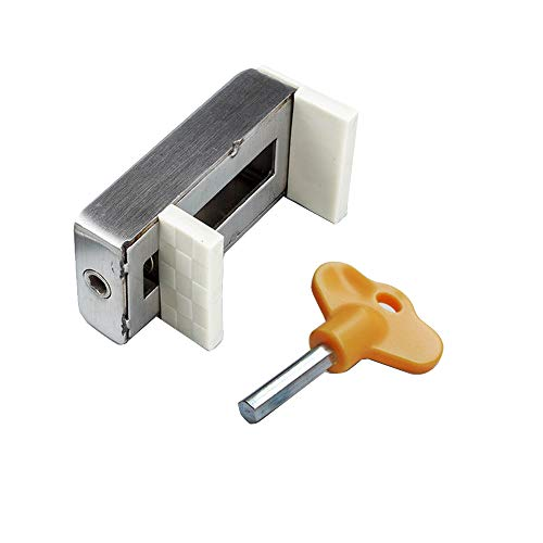 "Sliding Window Locks Adjustable Range 3/8"" - 1_15/16"", Alloy Steel Security Window Sash Stopper Anti-Theft Door Child Safety Lock Limiter with Key"
