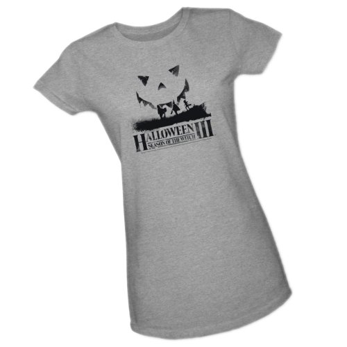 Under -- Halloween III Crop Sleeve Fitted Juniors T-Shirt, X-Large -