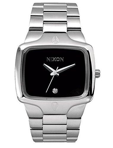 Nixon A140000-00 - Reloj analógico de cuarzo para hombre con correa de acero inoxidable, color plateado: Amazon.es: Relojes