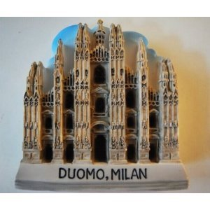 Milan Cathederal Church Duomo Italy Italian High Quality Resin 3D fridge Refrigerator Thai Magnet Hand Made Craft