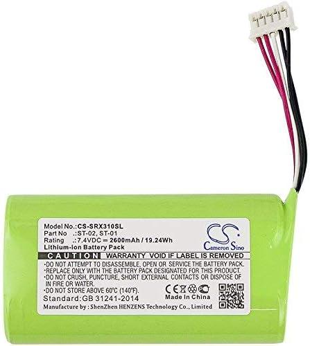 Bateria para Sony SRS-X3 SRS-XB2 SRS-XB20 4V 2600mAh/19.24Wh