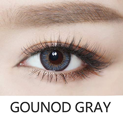 Cosplay Eyes Multi-Color Contact Lenses Cosplay Eyes Cute Colored Charm and Attractive Blends Cosmetic Makeup Eye Shadow (Gray) ()