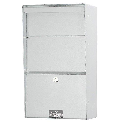 Aluminum Letter Locker Mailbox - Jayco LLAVW Wall Mount Vertical Aluminum Letter Locker Mailbox White