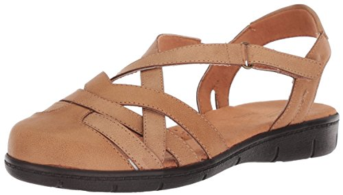 Easy Street Women's Garrett Flat Sandal Luggage 8.5 M US from Easy Street