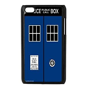 Custom High Quality WUCHAOGUI Phone case Doctor Who - Police Box Pattern Protective Case FOR IPod Touch 4th - Case-3 hjbrhga1544