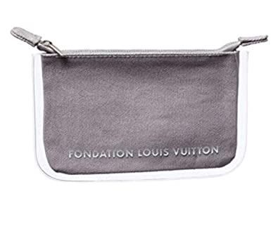 new product 00716 179f1 ルイヴィトン財団 美術館 限定品 FONDATION LOUIS VUITTON 限定 ポーチ グレー 並行輸入品