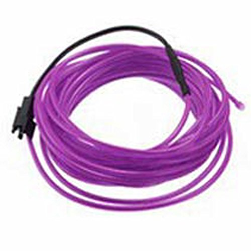 Enjoydeal 5M Waterproof Neon LED Glow String Light - Flexible Light Strip EL Wire Cable DIY Party and Tube Decoration - Purple - DC 12V
