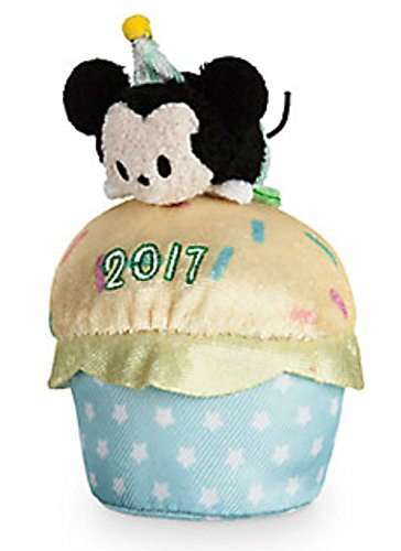 Disney Store Scented Birthday Cupcake 2017 Mickey Mouse Tsum Tsum Mini Plush 3.5