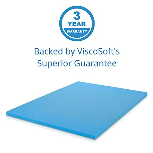 ViscoSoft 3 lbs. Density 2-Inch Gel Infused Memory Foam Queen Mattress Topper