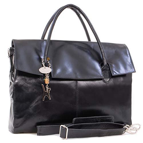 Catwalk Collection Handbags - Leder - Übergroße Laptoptasche Schultasche/Organizer/Arbeitstasche/Aktentasche für Damen - Laptop/iPad - Handtasche mit Schultergurt - HELENA