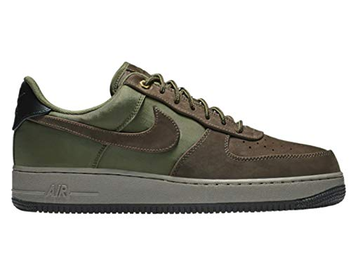 Nike Men's Air Force 1 Low Baroque Brown/Army Olive/Medium Olive Leather Casual Shoes 10.5 M US