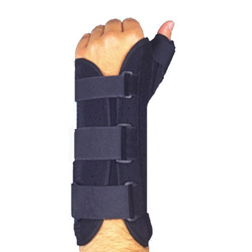 MAXAR WRS-203L Medium Wrist Splint with Abducted Thumb Left Hand by ITA-MED CO