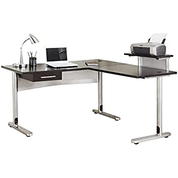 Amazon Com Bestar Connexion L Shaped Workstation With Two