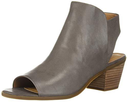 Leather Open Bootie Toe - Lucky Women's LK-BAAKA, Titanium, 7.5 M US