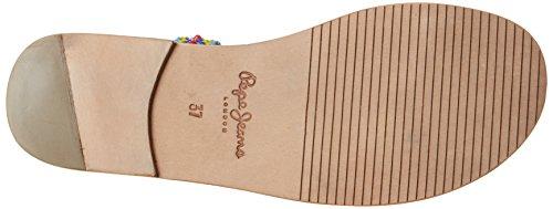 Pepe Jeans London Malibu Pompom, Sandalias para Mujer Marrón (Nut Brown)