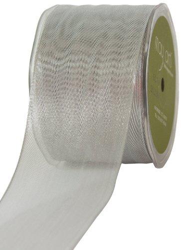 May Arts 2-1/2-Inch Wide Ribbon Metallic Silver [並行輸入品]   B072SLK7ZJ