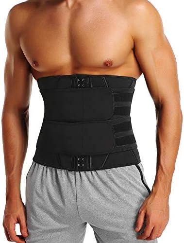 Men Waist Trimmer Slim Belt Sweat Wrap Tummy Stomach Weight Loss Fat Burner New