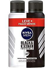 Kit Desodorante Aerossol Nivea Men Black & White Power 150Ml - 2 Unidades, Nivea, Pacote de 2