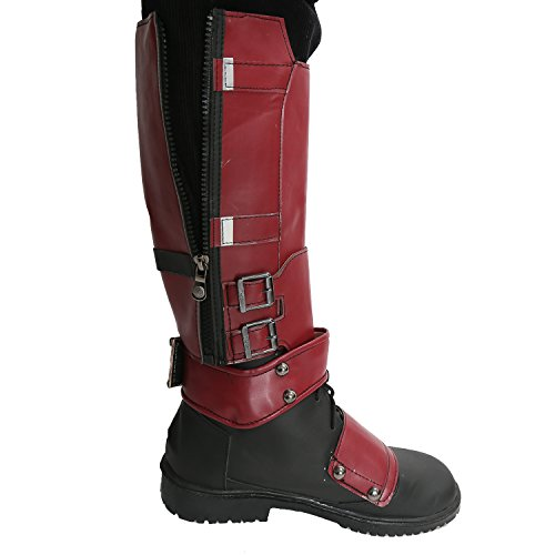 Avec Chaussures Zipper Pu Xcoser Film Covers Genou Shoes Bottes Costume Haute Side Cosplay Boots Dp av5vwq8