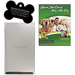PetSafe Pet Door Replacement Flap - X-Large and Customized Bone Shaped ID Tag Bundle