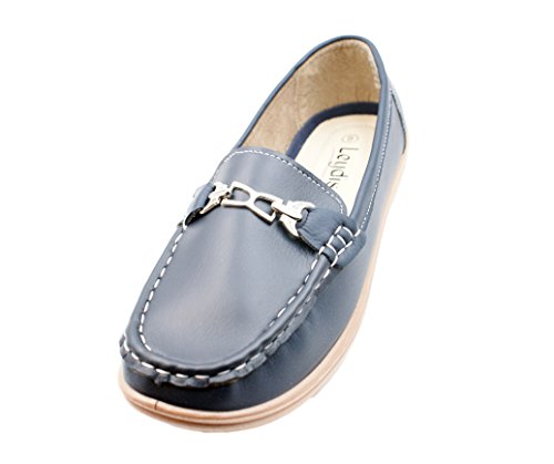 Navy Women's Buckled Loafers On Leydis Smooth Slip 1824 Josmo q7SBfZ