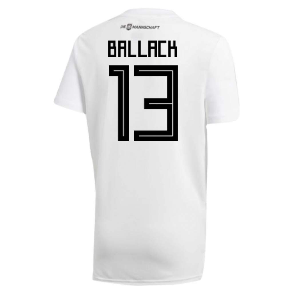 2018-19 Germany Home Training Football Soccer T-Shirt Trikot (Michael Ballack 13)