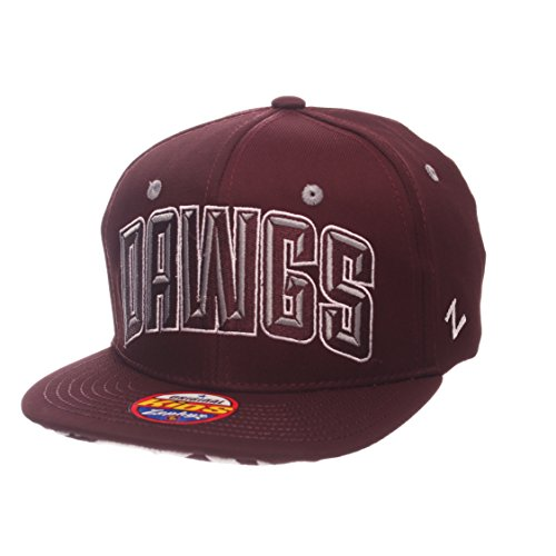(Zephyr NCAA Mississippi State Bulldogs Children Boys Youth TC Villain Snapback Hat, Youth Adjustable, Team Color)