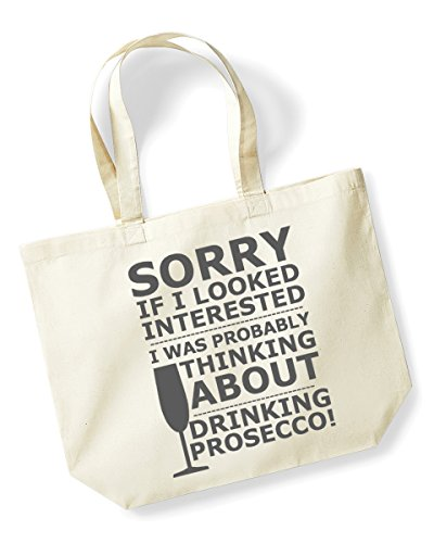 Bag Canvas Bag Tote Prosecco Natural Black Shopping Sorry Bag wAYqOz