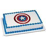 6'' Round - Captain America Icon - Edible Cake/Cupcake Party Topper!!!