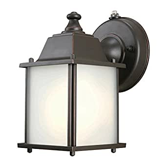 Hampton Bay Oil Rubbed Bronze 1-Light Outdoor Dusk-to-Dawn ...