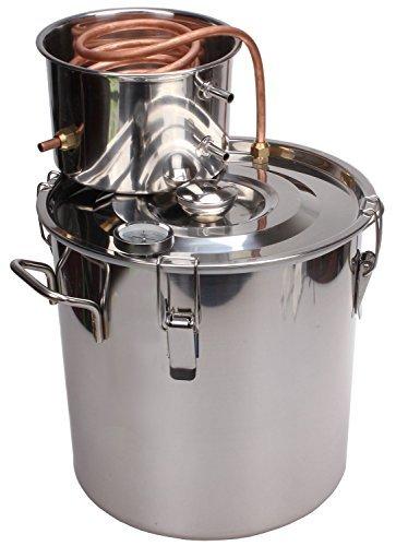 KMM 5 Gal Home Stainless Steel Essential Oil Distiller Water Alcohol Whiskey Moonshine Still Kit S0018