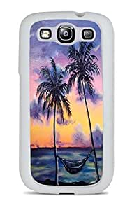 Maui Tropical Sunset White Silicone Case for Samsung Galaxy S3 by supermalls