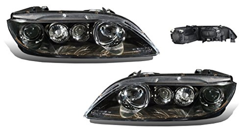 SPPC Black Headlights Assembly Set For 06-08 Mazda 6 - Passenger Right and Driver Left Side Replacement Headlamp