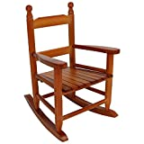 Sunnydaze Toddler Modern Wooden Rocking Chair with Non-Toxic Paint Finish, Fits Most Children Under 3 Feet Tall, Brown