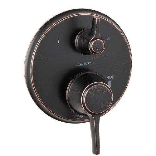 Hansgrohe 4449920 Metris C Pressure Balanced Valve Trim with Integrated Diverter, Small, Oil Rubbed Bronze (Set Metris Hansgrohe Shower)