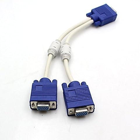 Honbay VGA Monitor Y Splitter Cable - Svga Monitor Splitter