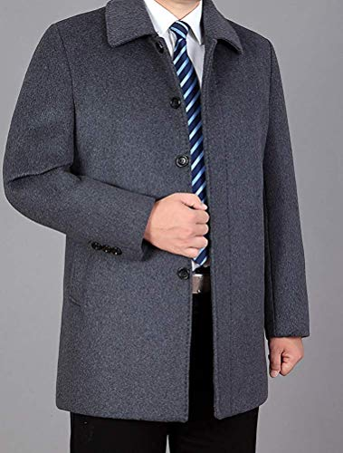 Misto Zhrui Uomo 1 Cappotto Lana In Da Style M Grey colore light Con Alto Invernale Collo Dimensione UtrXwqx7tW