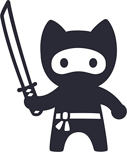 Cool Cute Kawaii Ninja Kitty Cat Cartoon Emoji Vinyl Decal Sticker (12