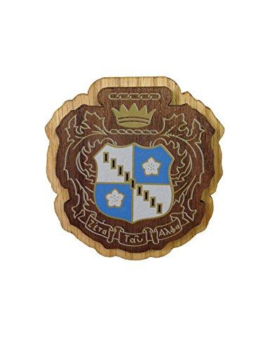 Zeta Tau Alpha Wood Crest Made of Wood for Paddle Mascot Board (3.5