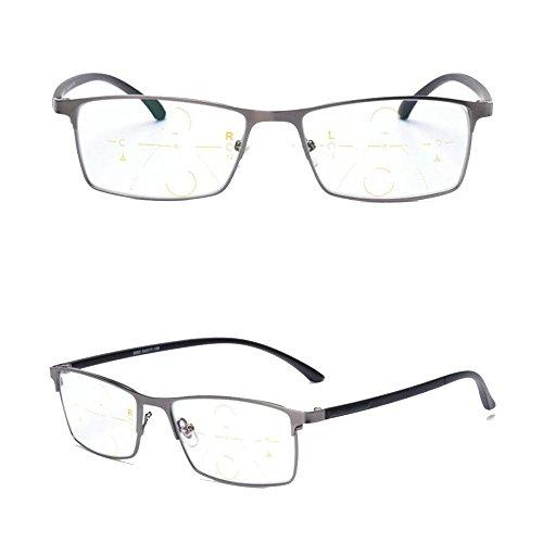 gafas de Ray computadora Progresiva lectura Blue templos Gris de gradual Transición anti UV400 flexible sol fotocromatico gafas Transición línea progresiva ninguna qxnz11