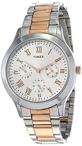 Timex Analog Silver Dial Women #39;s Watch   TW000Q807